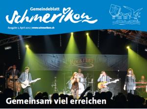 """sRockfäscht im Gmeindsblatt: """"Gemeinsam viel erreichen"""""""
