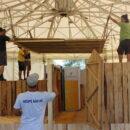Die Chreiselbar im Aufbau